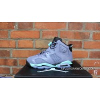 AJ Jordan 6 Generation Grey Green Lavender Women Air 6 Retro GS 6 Grey Green 543390-508 Latest