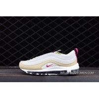 Nike 97 MAX9797 921733-0049 WMNS Air Max 97 Beige Pink Light Bone Women Shoes Size Online