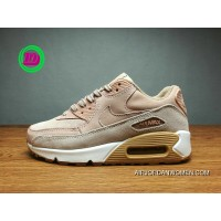 Pink Brown Air Max 90 Nike Women Shoes Zoom Running Shoes SAO Pink 881105-601 Outlet