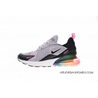 Women Shoes And Men Shoes Dont Note Colorways Nike Air Max 270 Betrue After Half-Palm Cushion Jogging Shoes Be True Shallow Grey Pink Black Rainbow AR0344-500 New Release