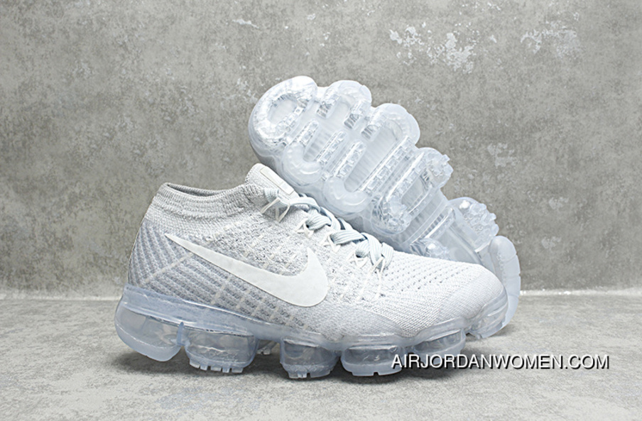 brand new f367e a00f8 Nike Air Max 2018 VaporMax Kids Shoes Grey White Latest