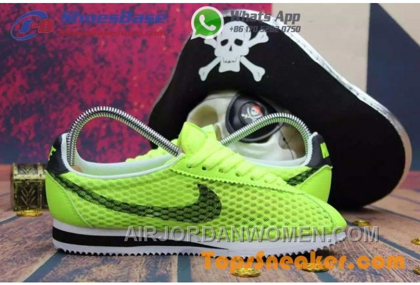classic fit e9c1d b1a7f Hot Sell Popular Womens Nike Cortez Mesh Yellow Black Jogging Shoes  Fashionable Authentic X8n3n