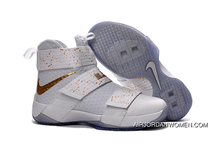 buy popular c3e30 8ed4a Big Kids Soldier 10 White New Style