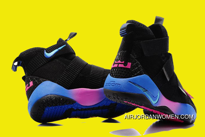 6e48eac1cc8 2017 Nike Lebron Soldier 11 Flip The Switch Black Blue Pink Super Deals