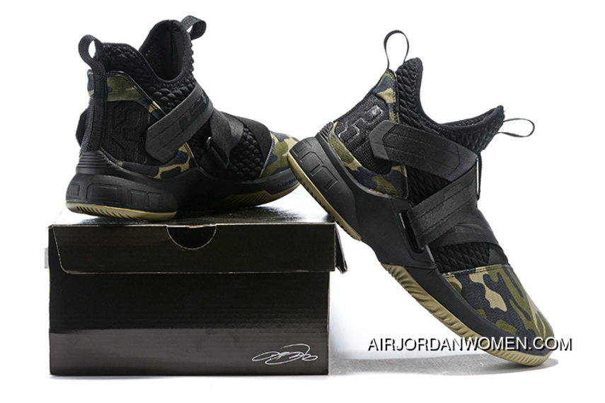 premium selection 1d3d2 5ae02 1931#12 Nike Lebron Soldier 12 Green Camo 2018 Online