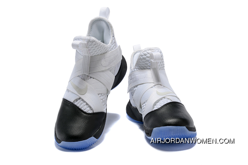 163250708388 Nike Lebron Soldier 12 White Black Men S Basketball Shoes New Style ...