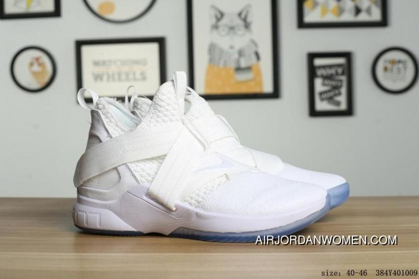 brand new a2e79 a578f Nike LeBron Soldier 12 Men White Crystal Outsole New Year Deals